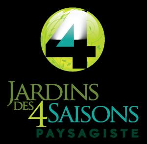 Logo. Jardins des 4 Saisons. Guer, Ploërmel, Redon, Plélan-Le-Grand, Maure de Bretagne