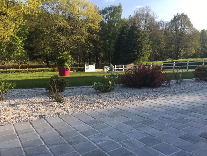pavé terrasse. Jardins des 4 Saisons. Guer, Ploërmel, Redon, Plélan-Le-Grand, Maure de Bretagne