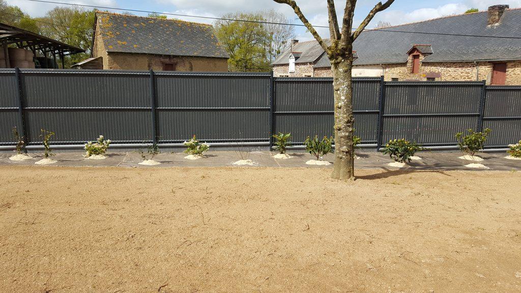 Clôture panneau rigide occultation. Jardins des 4 Saisons . Guer, Ploërmel, Redon, Plélan-Le-Grand, Maure de Bretagne
