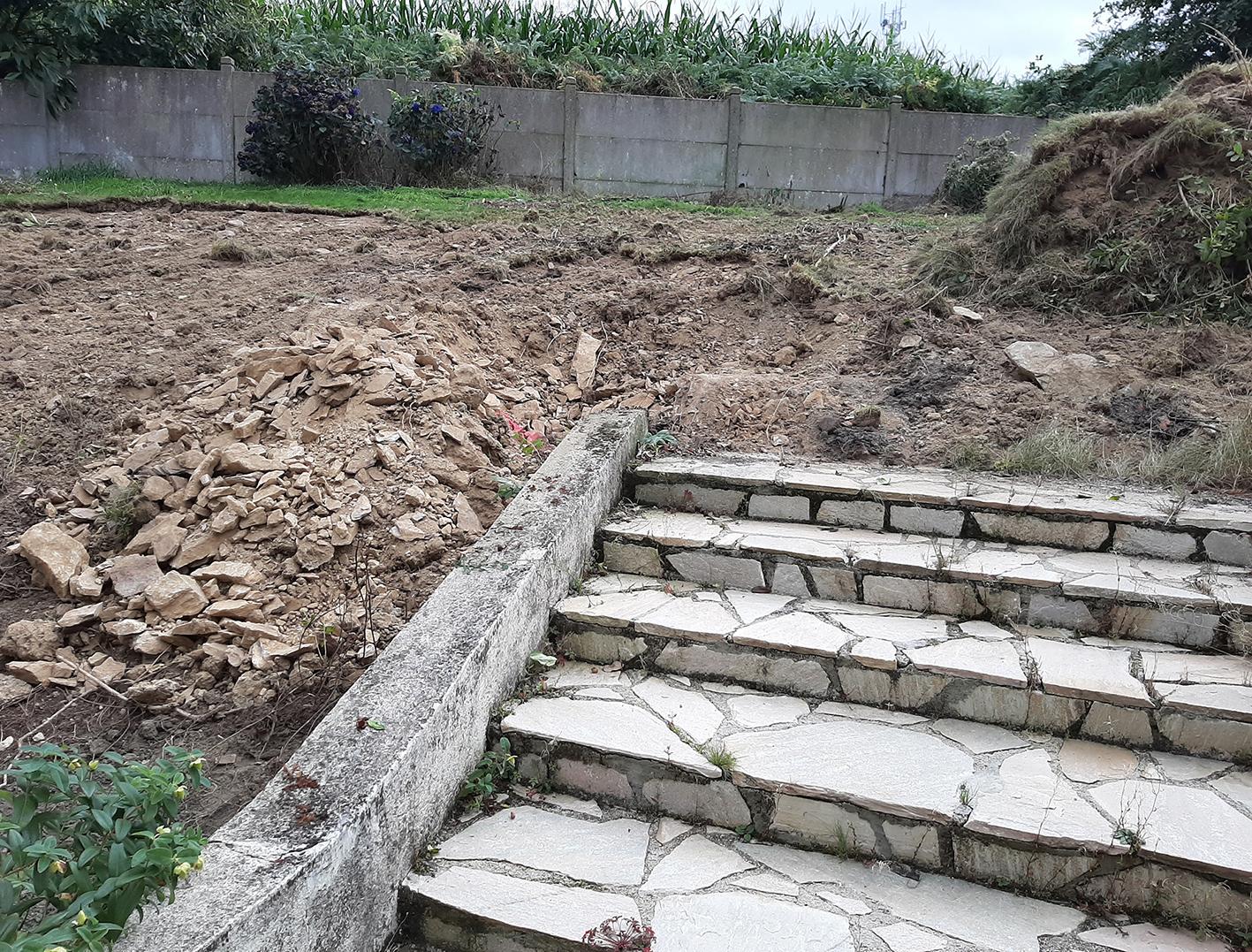 Terrassement. future terrasse. Jardins des 4 Saisons. Guer, Ploërmel, Redon, Plélan-Le-Grand, Maure de Bretagne